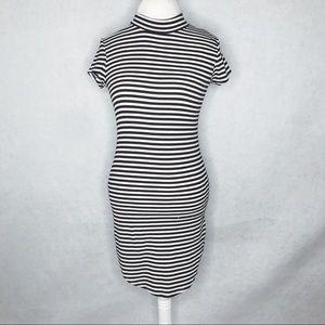 Poof! Striped body-con dress size Medium